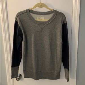 Current Elliott Sweatshirt w. faux leather